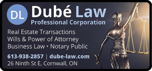 Dubé Law Professional Corporation BAG-FD-CORN-ON-1