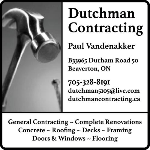 Dutchman Contracting BAG-YIG-BEAV-ON-1