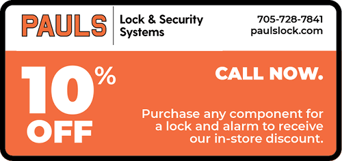PAULS LOCK & SECURITY SYSTEMS - BAG-HH-MIN-BAR-ON-2C