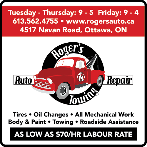 ROGER'S TOWING AND AUTO REPAIR - BAG-HH-CHAR-OR-ON-3